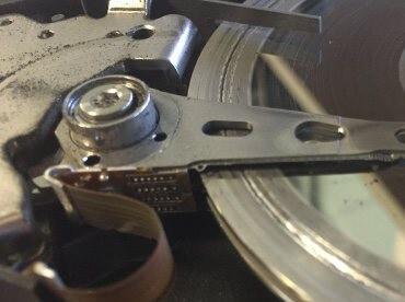 damage hard disk plate